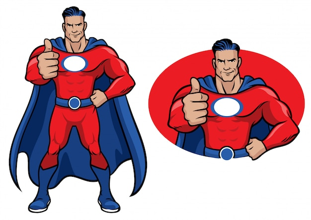 Super-héros pouce levé
