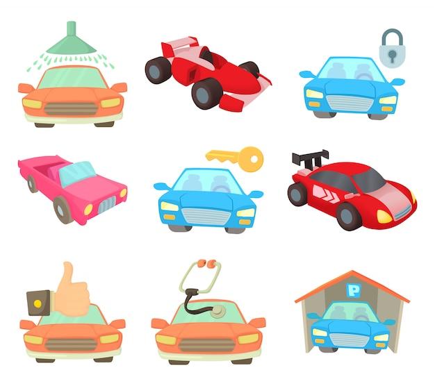 Super jeu d'icônes de voiture