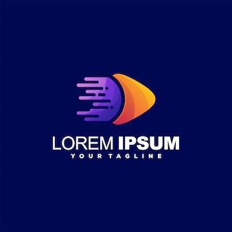 Super logo abstrait de jeu