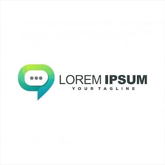 Super logo de chat multimédia
