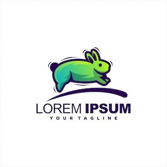 Super logo de lapin en cours d'exécution