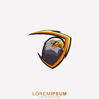 Super logo de mascotte d'aigle premium