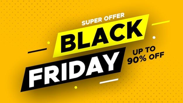 Super offre bannière de vente vendredi noir.