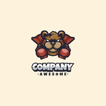 Super ours logo mascotte