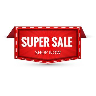Super vente bannière design. illustration vectorielle