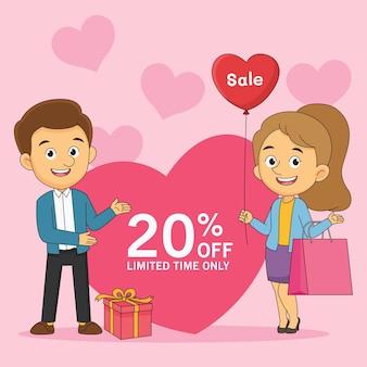 Super vente le jour de la saint-valentin, shopping