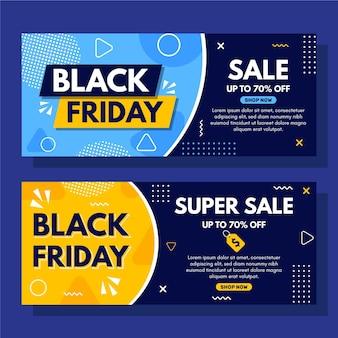 Super vente modèle de bannière de vendredi noir en pointillé