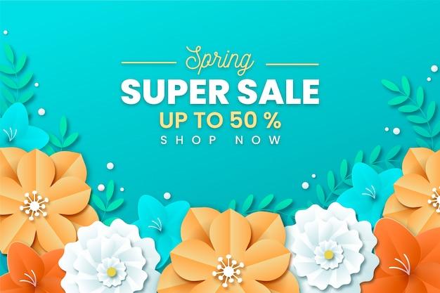 Super vente de printemps en style papier