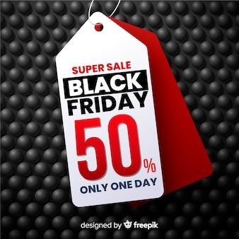 Super vente réaliste bannière de vendredi noir