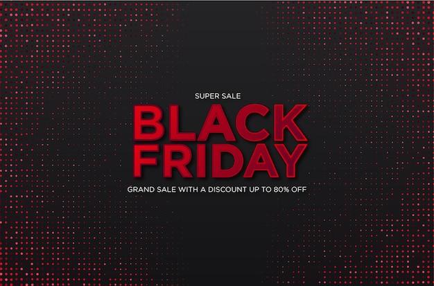 Super vente vendredi noir avec fond abstrait demi-teinte