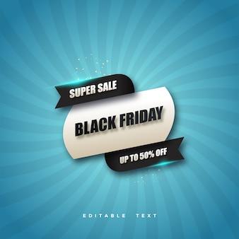 super vente vendredi noir avec fond bleu.