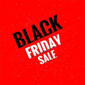 Superbe bannière de vente du vendredi noir