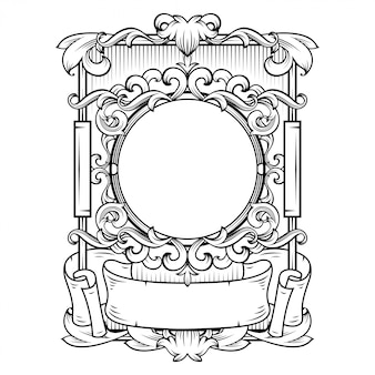 Superbe cadre baroque avec espace vide