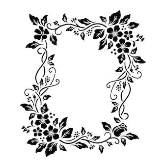 Superbe cadre floral avec espace vide