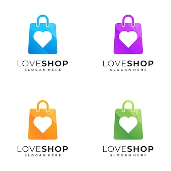 Superbe création de logo shopping coloré,