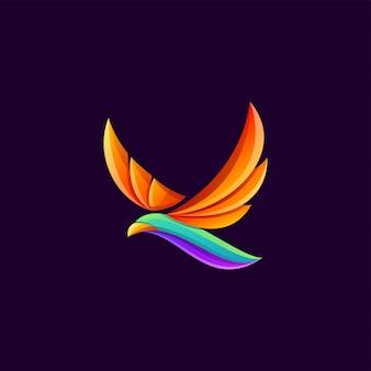 Superbe logo d'oiseau volant coloré