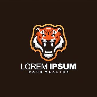 Superbe logo tête de tigre