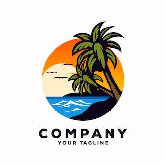 Superbe logo vectoriel d'été
