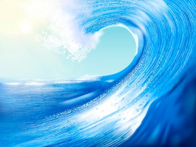 Superbes paysages de vagues pour la conception