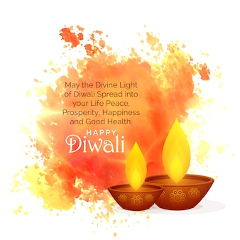 Superbes souhaits du festival de diwali