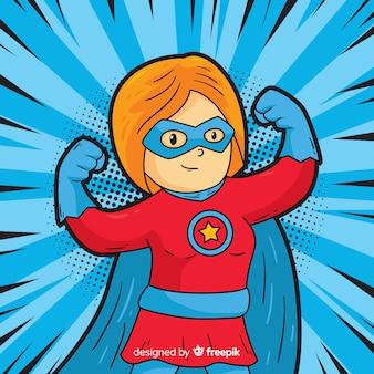 Superheroine avec style pop art