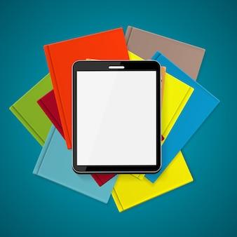 Supériorité e-book sur papier livres concept vector illustration