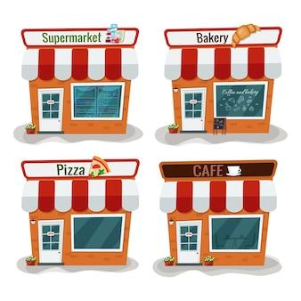 Supermarché, boulangerie, pizzeria café appartement