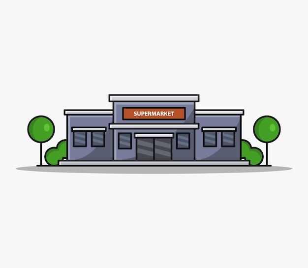 Supermarché illustré de dessin animé