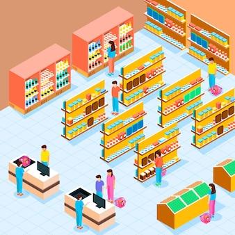 Supermarché isométrique