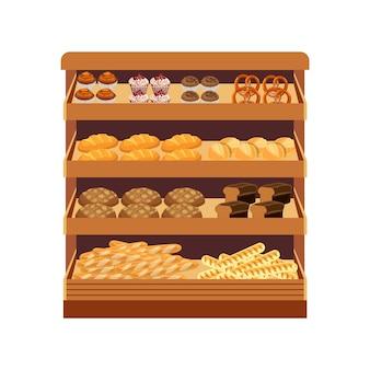 Supermarché. vitrine à pain