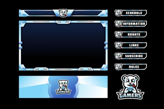 Superposition du panneau bear gamers