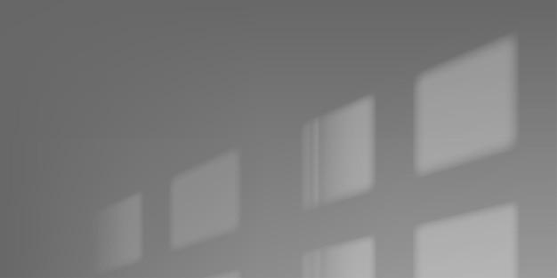 Superposition de fenêtre de vecteur d'ombre floue ombre soleil concept maquette illustration d'arrière-plan.