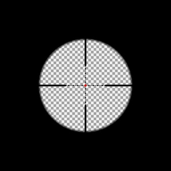 Superposition de lunette de visée sur l'arrière-plan transparent.