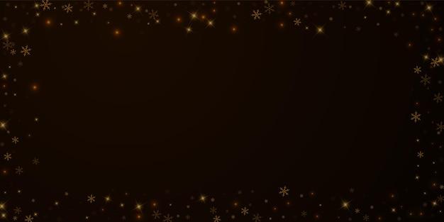 Superposition de noël de neige étoilée clairsemée. lumières de noël, bokeh, flocons de neige, étoiles sur fond de nuit. modèle de superposition étincelante de luxe. illustration vectorielle remarquable.