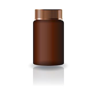 Suppléments de cylindre brun ou bouteille de médicament