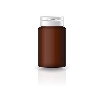 Suppléments de cylindre brun ou flacon de médicament avec couvercle.