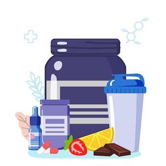 Suppléments vitaminiques sportifs pour le fitness protéines de lactosérum caséine bcaa créatine protéines pour le sport vecto