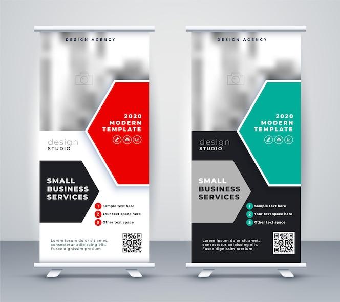 Support de bannière enroulable élégant design moderne