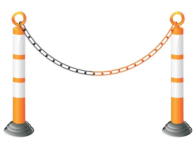 Support de barrière en métal