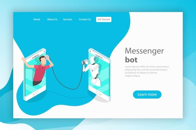 Support client intelligence artificielle messenger bot ai