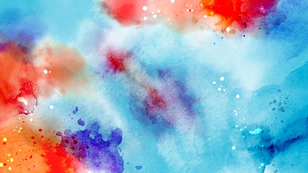 Surface abstraite lumineuse colorée d'aquarelle splash