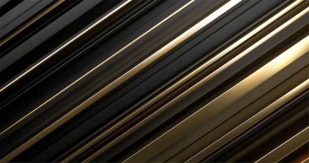 Surface en couches noire et dorée. abstrait géométrique. illustration. motif de couches aléatoires. texture rayée