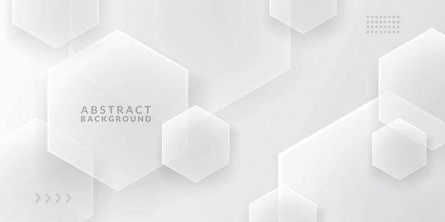 Surface de couverture hexagonale en verre minimalisme numérique blanc élégant fond de luxe cool tendance