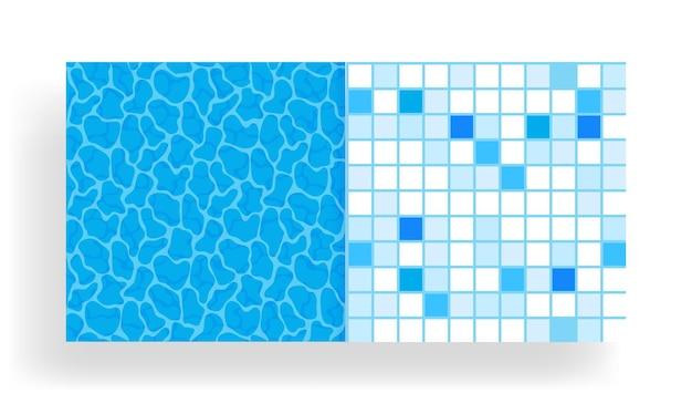 Surface de l'eau dans la piscine avec motif de carreaux sans couture.