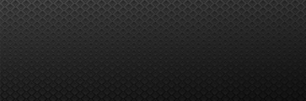 Surface de fond sombre de losanges métalliques géométriques monochromes