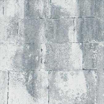 Surface de mur de briques de pierre vintage vecteur demi-teinte monochrome gris abstrait décoration réaliste texture d'arrière-plan