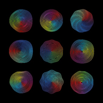Surface d'onde ronde abstraite