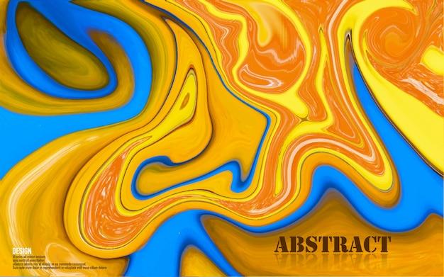 Surface de peintures abstraites mélangées de bleu et d'orange