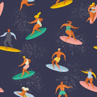 Surfer les garçons et les filles