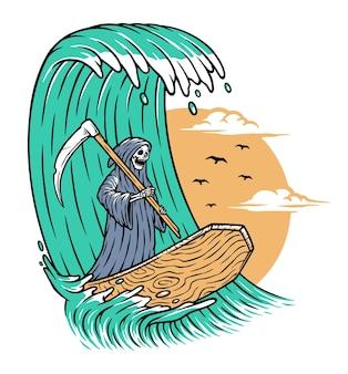 Surfeur de la grande faucheuse